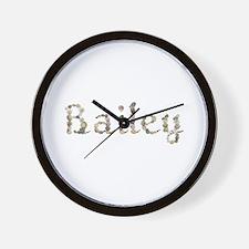 Bailey Seashells Wall Clock