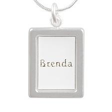 Brenda Seashells Silver Portrait Necklace
