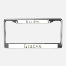 Braden Seashells License Plate Frame
