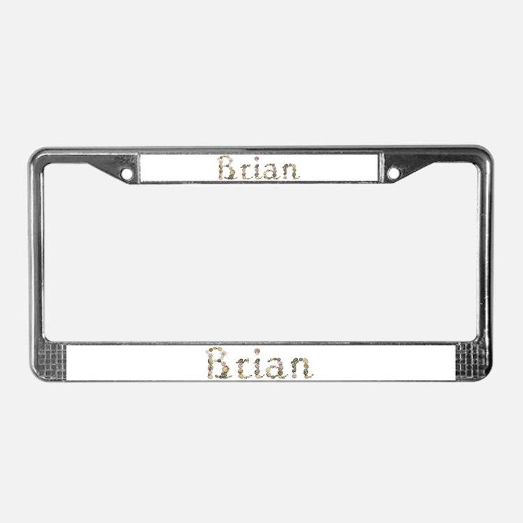 Brian Seashells License Plate Frame