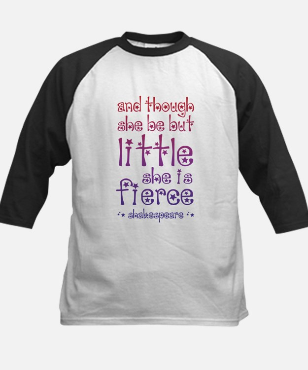 Though She Be But Little She is Fi Baseball Jersey