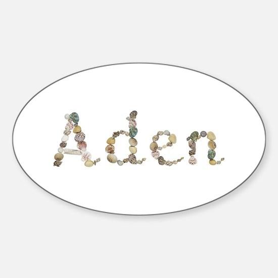 Aden Seashells Oval Decal