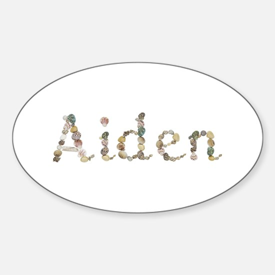 Aiden Seashells Oval Decal