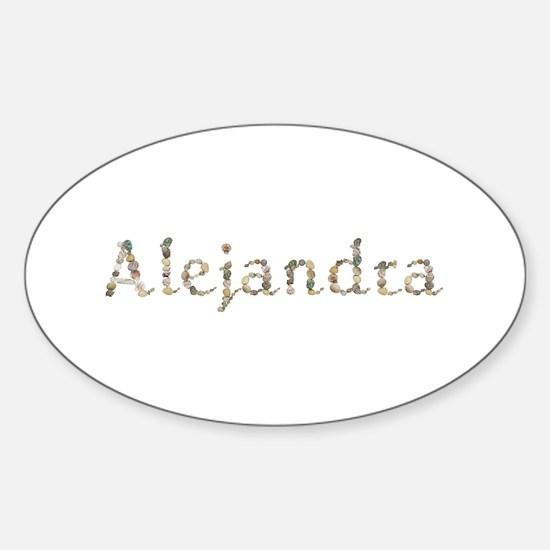 Alejandra Seashells Oval Decal