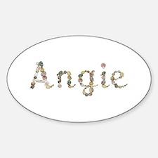 Angie Seashells Oval Decal