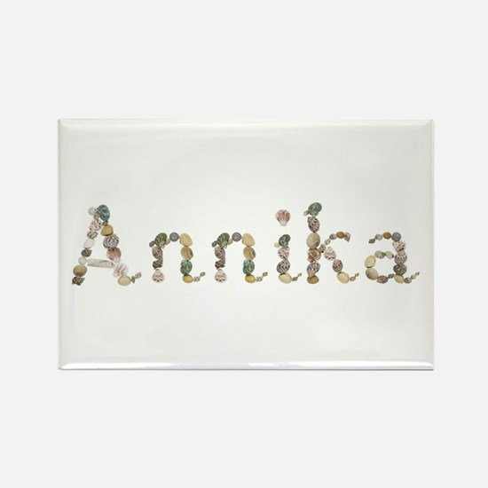 Annika Seashells Rectangle Magnet