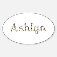 Ashlyn Seashells Oval Decal
