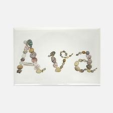 Ava Seashells Rectangle Magnet