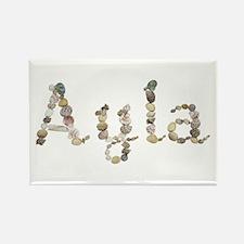 Ayla Seashells Rectangle Magnet