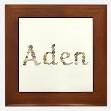 Aden Seashells Framed Tile