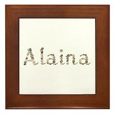 Alaina Seashells Framed Tile