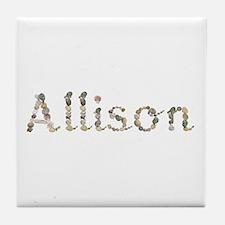Allison Seashells Tile Coaster