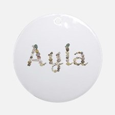 Ayla Seashells Round Ornament