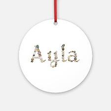 Ayla Seashells Round Ornament