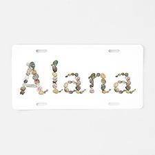 Alana Seashells Aluminum License Plate