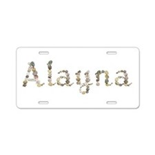 Alayna Seashells Aluminum License Plate