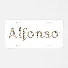 Alfonso Seashells Aluminum License Plate