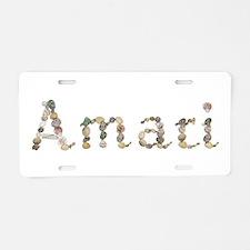 Amari Seashells Aluminum License Plate