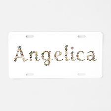 Angelica Seashells Aluminum License Plate