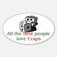 Craps Oval Decal