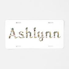 Ashlynn Seashells Aluminum License Plate