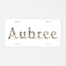Aubree Seashells Aluminum License Plate