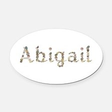 Abigail Seashells Oval Car Magnet