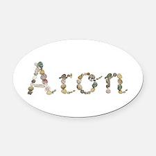 Aron Seashells Oval Car Magnet