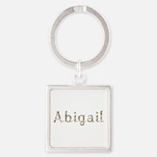 Abigail Seashells Square Keychain