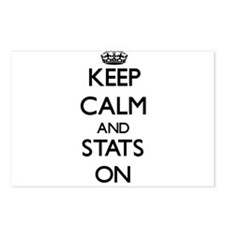 Keep Calm and Stats ON Postcards (Package of 8)