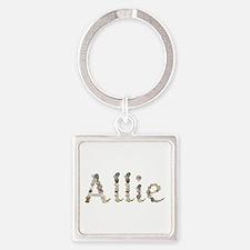Allie Seashells Square Keychain