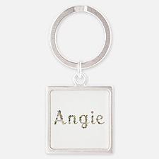Angie Seashells Square Keychain