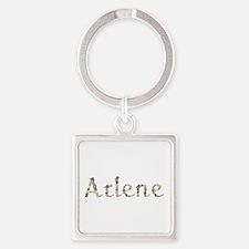 Arlene Seashells Square Keychain