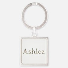 Ashlee Seashells Square Keychain