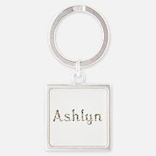 Ashlyn Seashells Square Keychain