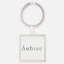 Aubree Seashells Square Keychain