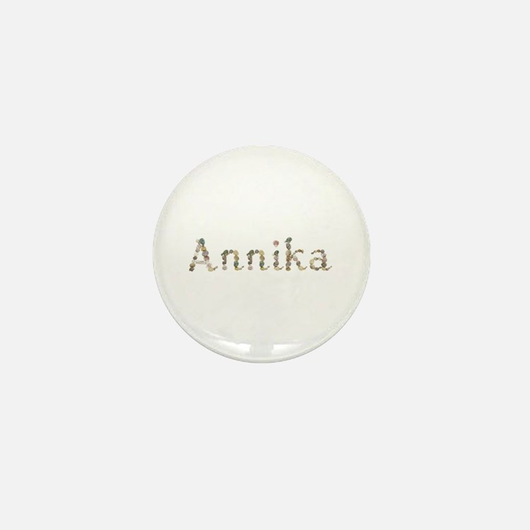 Annika Seashells Mini Button