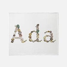 Ada Seashells Throw Blanket