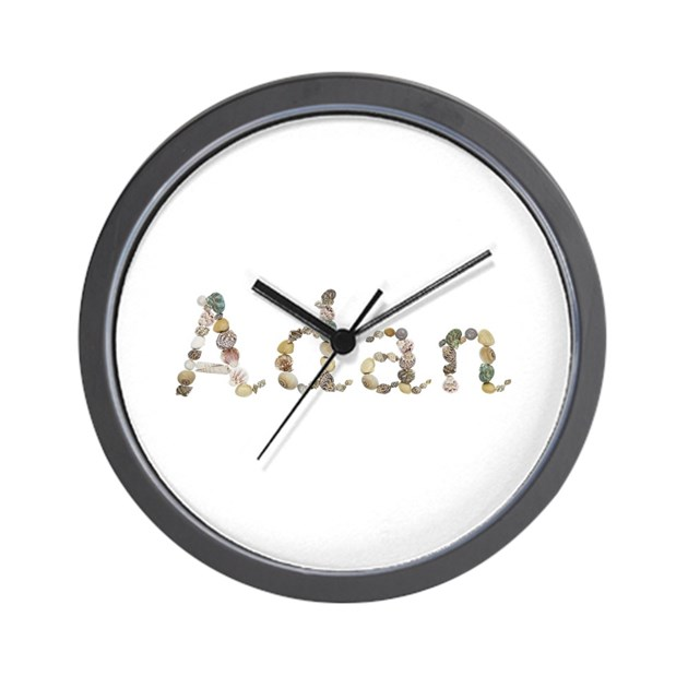 Adan seashells wall clock by namestuff shells ac for Seashell clock
