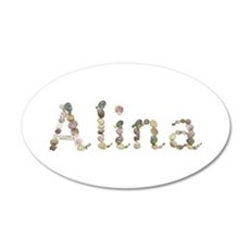 Alina Seashells 35x21 Oval Wall Decal