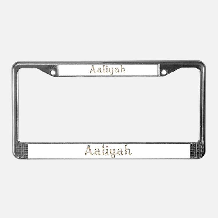 Aaliyah Seashells License Plate Frame