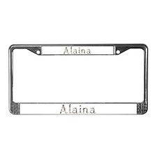 Alaina Seashells License Plate Frame