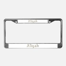 Aliyah Seashells License Plate Frame