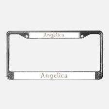 Angelica Seashells License Plate Frame