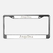 Angelina Seashells License Plate Frame