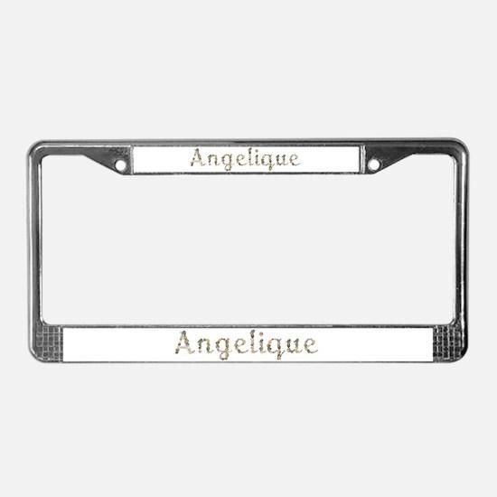Angelique Seashells License Plate Frame