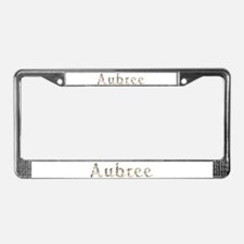 Aubree Seashells License Plate Frame