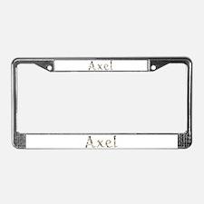 Axel Seashells License Plate Frame