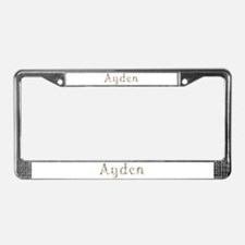 Ayden Seashells License Plate Frame