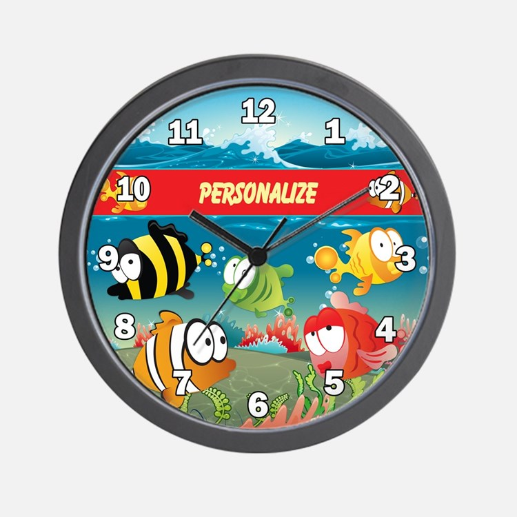 Kids Fun Fish Custom Wall Clock